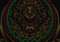 Lion Graphic with dark overlay