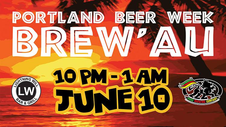 Portland Beer Week Brew'au poster
