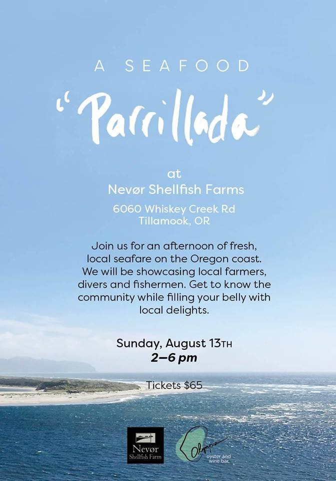 A Seafood Parrilada Event Flyer