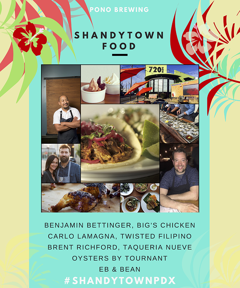 Pono Brewing's Shandytown Food Line-up