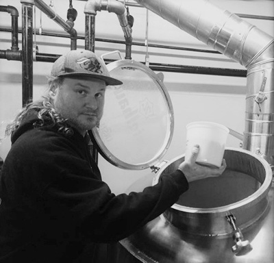 Larry Clouser Brewing Beer
